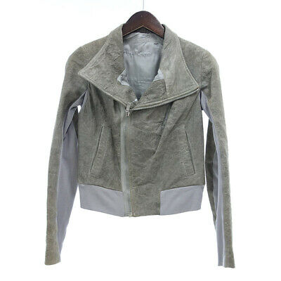 £80.63 • Buy RICK OWENS Double Leather Jacket Gray