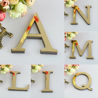 26 Letters DIY 3D Mirror Acrylic Wall Sticker Decals Home Decor Wall Art Mural • 1.99£
