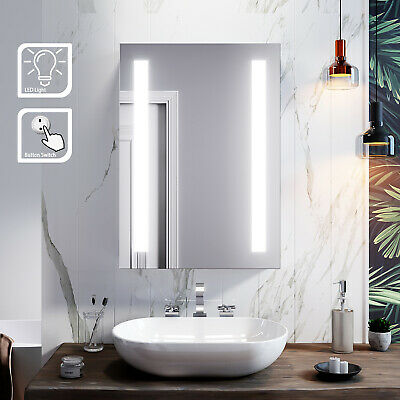£127.99 • Buy LED Bathroom Mirror Cabinet Button Illuminated Wall Mounted Cupboard Shelves