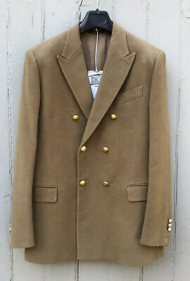 $180 • Buy Kent & Curwen Double Breasted Camel 100% Cotton Twill Blazer Size 40 NEW