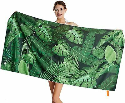 AU32.57 • Buy Sand Free Travel Beach Towel Blanket|Quick Fast Dry Super Absorbent Lightweight