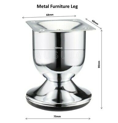 AU3.50 • Buy Metal Furniture Legs Feet Chrome Bed Ensemble Base Cabinet Couch Sofa Lounge