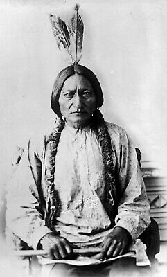 £4.99 • Buy Sitting Bull Native American Indian Sioux 1883 Print Poster Wall Picture A4 +