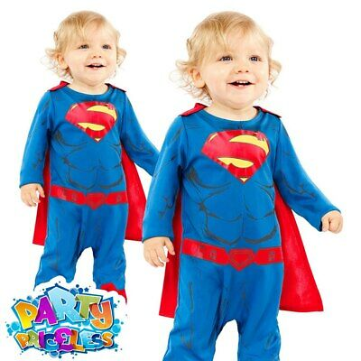Toddler Superman Costume Boys Baby Super Hero Movie Comic Fancy Dress Outfit  • 9.99£