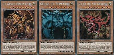 AU29.95 • Buy Yugioh | Egyptian God Cards Legal Slifer Obelisk Ra SBCB-EN - Secret Rare Set NM