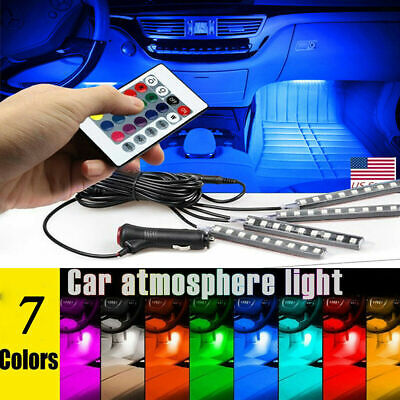 $11.99 • Buy LED Car USB Charge Interior Accessories Floor Decorative Atmosphere Lamp Light