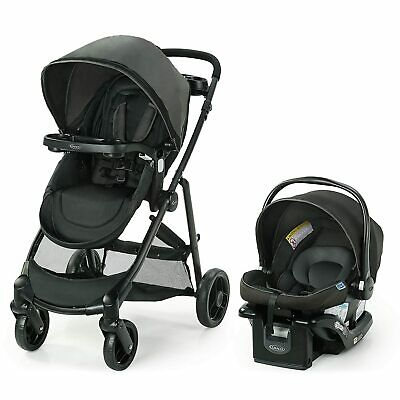 Graco Modes Element Travel System, Baby Stroller Reversible Seat Canter Fashion • 179.22£