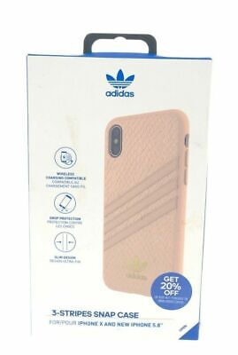 AU8.07 • Buy Adidas 3 Stripes Snap Case Fits Apple IPhone X And IPhone Xs Pink Snake Gold