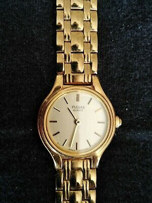 PULSAR By Seiko LADIES GOLD PLATED DRESS WATCH • 9.99£