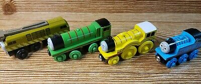Thomas & Friends Wooden Railway 2003 DIESEL 10,HENRY, MOLLY, THOMAS 4 Lot • 21.50£