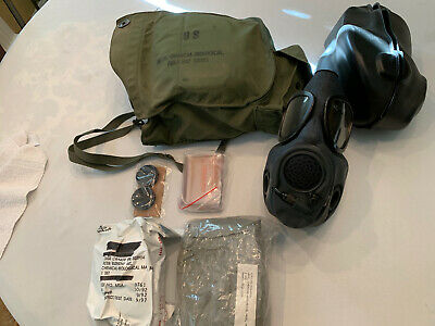 $110 • Buy M17a2 Mask New Small With Filter And Bag In Original Box With Chemical Hood