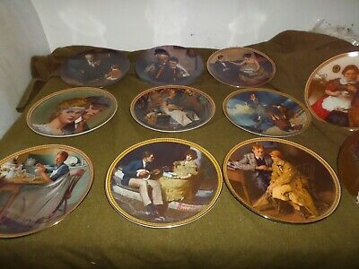$ CDN84.21 • Buy Norman Rockwell Plates Qty 11 Edward Knowles Fine China