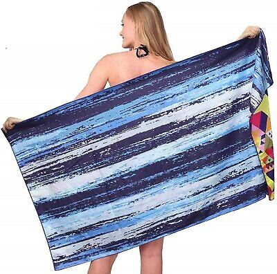AU32.90 • Buy Sand Free Travel Beach Towel Blanket-Quick Fast Dry Super Absorbent Lightweight