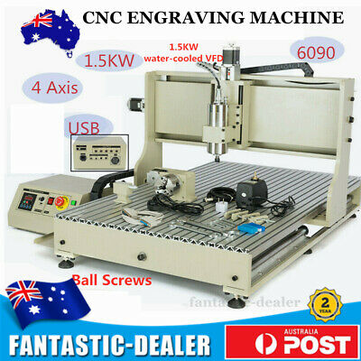 AU2829 • Buy USB 4 Axis CNC 6090 Router Engraving Machine Engraver Milling Cutter Ball Screws