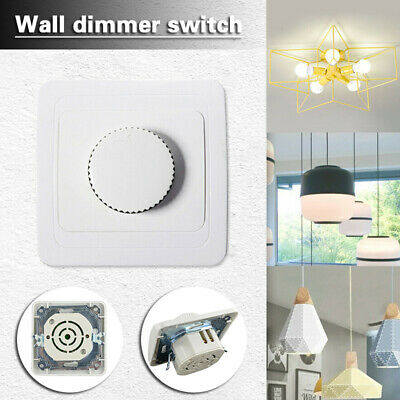 LED Dimmer Single Light Switch LED Lamp For Dimmable Lighting White 4W To 300W • 5.89£