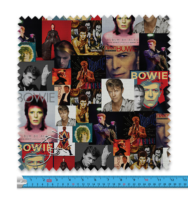 £11.99 • Buy Bowie Celeb Montage Fabric 21 Variations Price Per Metre LSFABRIC145