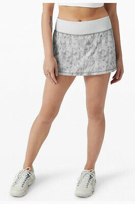 $ CDN95.15 • Buy NEW Lululemon Pace Rival Tennis Skirt Skort 10 Tall City Breeze Alpine White