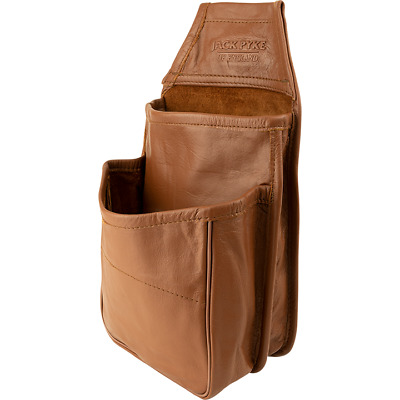 £23.95 • Buy Jack Pyke Tan Leather Cartridge Double Pouch Belt Attachment Hunting Shooting
