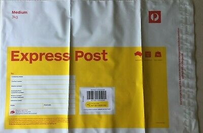 AU188 • Buy 10 X 3kg Large EXPRESS Post Prepaid Satchel Aust Post With FREE EXPRESS DELIVERY