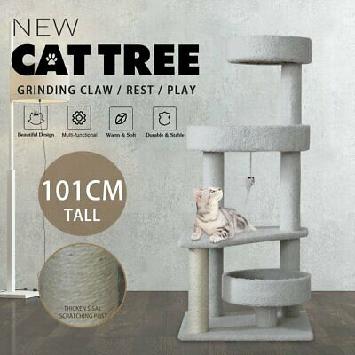 AU52.90 • Buy Pet Cat Tree Scratching Post Scratcher Tower Trees Condo House Furniture