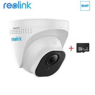 Reolink 5MP IR POE Dome HD IP CCTV Security Camera With 16GB SD Card RLC-520 • 54.99£