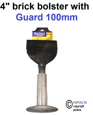 £6.95 • Buy 4  100mm Brick Bolster With Sleeve Cap Chisel With Guard Electrician 69026c