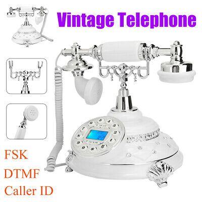 Retro Vintage Landline Telephone Desktop Phone With Caller ID For Home Hotel • 50.48£