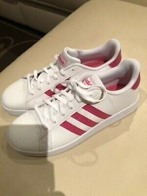 AU45 • Buy Ladies GENUINE Adidas Superstar Sneakers Shoe White & Glitter Pink Size US 6 NEW