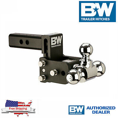 $ CDN258.81 • Buy B&W Tow & Stow Hitch Adjustable Tri Ball 3  Drop 3 1/2  Rise For 2  Receiver