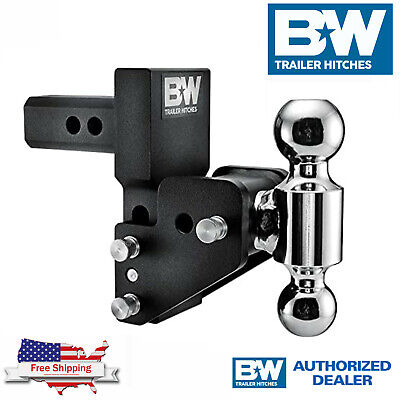 $ CDN379.34 • Buy B&W Tow & Stow Adjustable 2.5  Drop Dual Ball Hitch Fits GM Multi Pro Tailgate