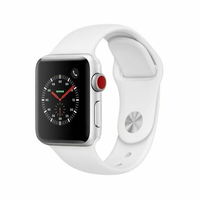 $ CDN222.35 • Buy Apple Watch Series 3 38mm Silver Aluminum With White Sport Band - GPS + Cellular