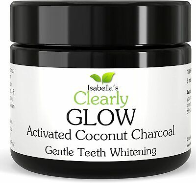 AU35.21 • Buy GLOW COCONUT Teeth Whitening Activated Charcoal Powder. 100% Food Grade Non-GMO,