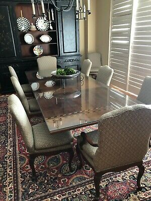 $1500 • Buy 1990s Baker Furniture French Provincial Mahogany Dining Room Table And 8 Chair S