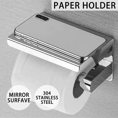 AU16.09 • Buy 304 Stainless Steel Toilet Paper Roll Holder Tissue Bath Accessory Storage Hooks