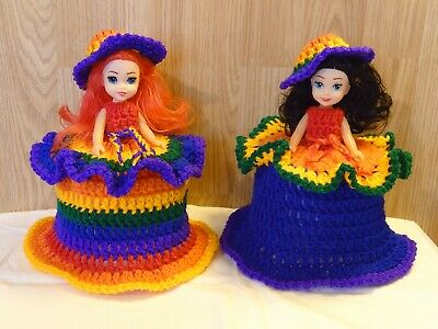 £10.99 • Buy 1 LGBT PRIDE COLOUR TOILET ROLL, DOLLS COVER, CROCHET HAND MADE Special