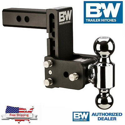 $ CDN338.74 • Buy B&W Tow & Stow Magnum 5  Adjustable Dual Hitch Ball Mount With 2.5  Receiver