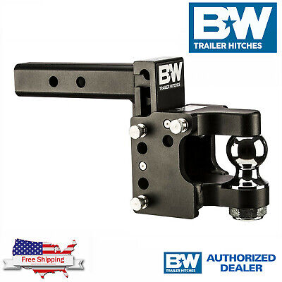 $ CDN431.36 • Buy B&W Tow & Stow 8  Adjustable Pintle Hitch Ball Mount With 2.5  Receiver Shank