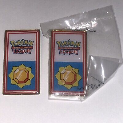 🇬🇧1pc POKÉMON LEAGUE BADGE (Thunder Badge) - NEW/SEALED🇬🇧 • 1.50£