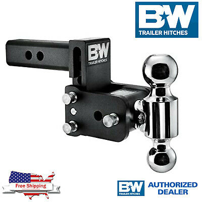$ CDN246.13 • Buy B&W Hitches Tow & Stow 3  Adjustable Dual Ball Mount Receiver Hitch TS10033B