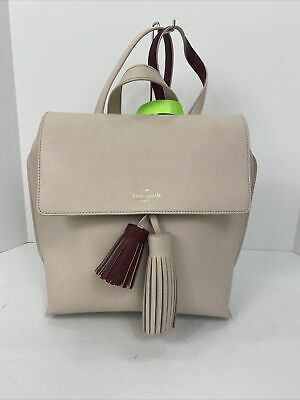 $ CDN127.58 • Buy Kate Spade Backpack Bag  Foster Court Kirk Flap Backpack Eggshell White B3A