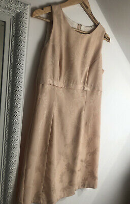 £13.99 • Buy Vintage Jackie O Style 60's Sand/Cream Shift Dress Size S (approx Size 8)