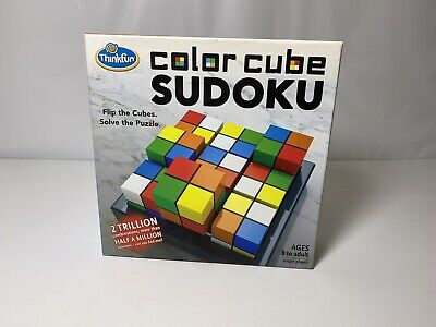 ThinkFun COLOR CUBE SUDOKU Brain Teaser FLIP THE CUBES, SOLVE THE PUZZLE • 8.73£