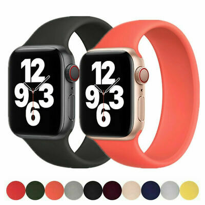 $ CDN5.55 • Buy For Apple Watch Series 6 5 4 3 SE Solo Loop Silicone Strap 38-44mm Sport Band