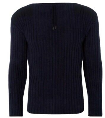 N Peal  007 Ribbed Navy No Time To Die Medium Jumper • 374.99£