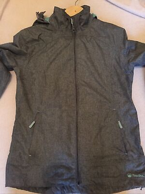 Women's Ladies Peter Storm Glide Marl Waterproof  Jacket Coat - Grey - Size 12 • 15£