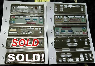 1x I/O IO PLATE BACK SHIELD CHOICE OF ONE MATX ATX UNKNOWN MOTHERBOARD PCLT12 • 8.98£