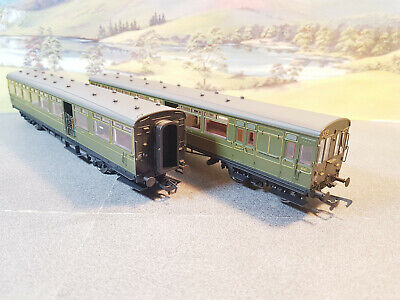 E86002 EFE Rail LSWR 2 Car Gate Stock Set Southern Olive Green • 128£