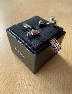 £38 • Buy Paul Smith Egg Cup Polished Silver With Gold Detail Cufflinks Mens BNIB