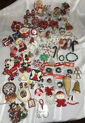 $ CDN31.56 • Buy Vintage Christmas Ornament Lot Of 80 Santa, Bells, Angels And Much More.l.
