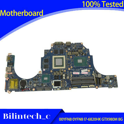 $ CDN1321.60 • Buy FOR DELL Alienware 17 R3 15 R2 Motherboard I7-6820HK GTX980M 8G 00YFN8